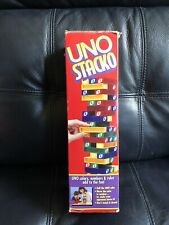 UNO Stacko #9003 Plastic Block tower family game by Mattel 1994 Complete