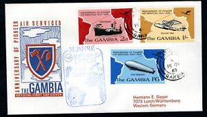 Gambia - 1969 Anniversary of Pioneer Air Service First Day Cover