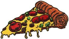 Pizza slice Italian fast food retro embroidered applique iron-on patch S-1205