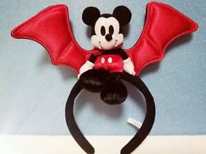 Headband TOKYO DISNEY RESORT Vampire Mickey Plush Halloween  Red JAPAN