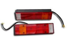 PAIR REAR TAIL LIGHTS LAMPS TRAILER LORRY TRUCK CAMPER TIPPER CARAVAN UNIVERSAL