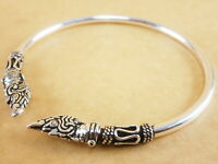 New Naga Bali Style 925 Sterling Silver Bracelet Torque Bangle Cuff 3mm 7""