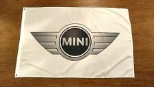 WHITE MINI FLAG BANNER 3X5FT COOPER S ROADSTER HARDTOP COUNTRYMAN CLUBMAN JCW