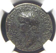Authentic AE Dupondius of Roman Emperor Nero, NGC Certified 1019