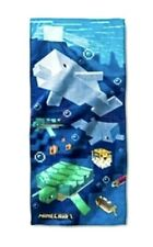 "Minecraft Shark Turtle Puffer Fish Bath/Beach Towel 28"" X 58"" 100% Cotton New"