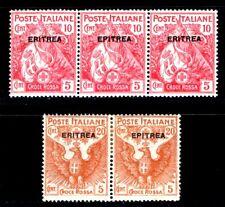 ITALIENISCHE KOLONIEN ERITREA 1916 43,45 * ABART EPITREA SELTEN (M0153