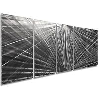 Starburst Metal Art Abstract Wall Sculpture Contemporary Artwork Etched Original