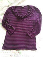 Gorgeous Phase Eight Stripy Top-size 12. Purple/ Navy. VGC