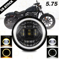 5.75 5 3/4 LED Headlight  Projector DRL For Harley-Davidson Dyna Sportster