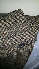 42R Orange Prince of Wales PURE CAMEL HAIR Tweed Plaid Blazer Jacket Sport Coat