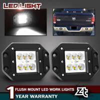 """2PCS 4"""" 24W Flood LED Light REVERSE REAR Fog Lamp For Jeep 4X4 OffRoad ATV UTV"""