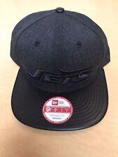 New York Jets Leather Bill New Era SnapBack Cap Hat NEW