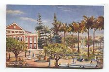 Pernambuco, Brazil - Jardim e Palacio do Governo - Tuck shipping line postcard