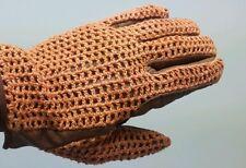Brand New Horse Riding Gloves Genuine Leather Crochet Net Design, XXLarge 6792