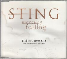STING Mercury Falling Interview CD 1996 UK promo only interview CD