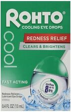 Rohto Cooling Eye Drops Dual Action Redness + Dryness Relief 0.4oz (Pack of 24)