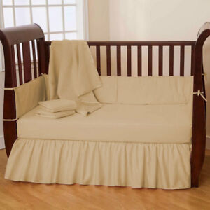 Unisex Baby Bedding Dust Ruffle Bed Skirt Solid Colors Crib/Mini crib/Toddler