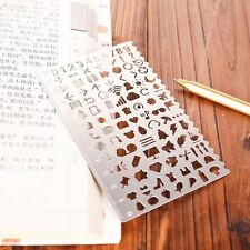 Crafts Hollow DIY Toys Drawing Metal Template Ruler Stencil