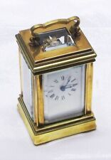 CARRIAGE CLOCK, BRASS, VINTAGE, MINT, MOVEMENT BY ACG, KEY INCLUDED
