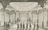 Unbek. (19. Jh.), Badsaal im Harem, Istanbul, Stahlst.