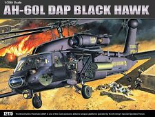 Academy 1/35 Plastic Model Kit AH-60L DAP BLACK HAWA Helicopter #12115