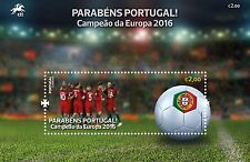 PORTUGAL EUROPEAN CHAMPION FOOTBALL SOCCER UEFA EURO 2016 PARIS FRANCE  S.S. MNH