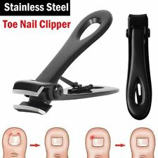 Professional Stainless Steel Large Toe Nail Clipper For Thick Nails Tools Black