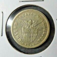 1920 - (M) US / Philippines 20 Twenty Centavos Coin Circulated - Silver - Manila
