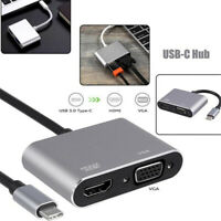 USB 3.1 Type C To VGA Multiport Adapter USB C To HDMI 4K UHD Converter Ports CW