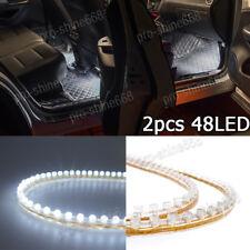 2pcs White 48-LED Side Headlight Daytime Running DRL Driving Strips Shine Lights