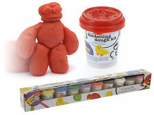 Set of 10 Dough Tubs Kids Modelling Doh Plasticine Modelling Clay Xmas Gift
