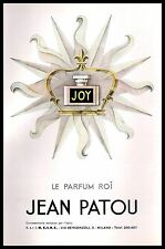 PUBBLICITA' 1956 JOY JEAN PATOU PROFUMO LE PARFUME ROI COSMESI MODA PERFUME
