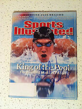 MICHAEL PHELPS SIGNED AUTO SWIMMING MAGAZINE LONDON OLYMPICS USA PROOF **WOW**
