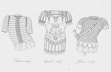 Imperial Roman Battle Dress Uniforms-Cuirass 1809 Copper Plate Engraving