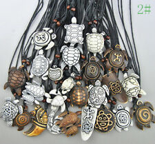 Wholesale 25 pcs Mixed Styles Yak Bone Hand-carved Surf Sea Turtle Necklace