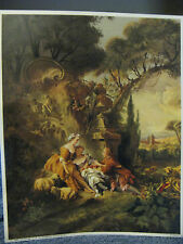 Victorian Man & Women With Sheep- Italy- Boucher