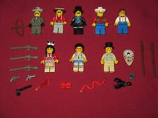 LEGO Western minifigures LOT Cowboys,Indians,Weapons,Animals+