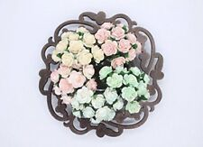 100 Pcs Mini Rose Mix Soft Pastel Shade 10 mm Mulberry Paper Flowers Wedding