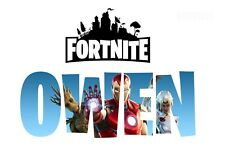 Fortnite Avengers Print Personalised Gamertag Wall Art Poster A3 A4 A5 Photo