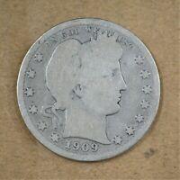 1909-D Barber/Liberty Head Quarter Good    A-250