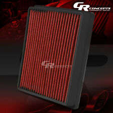 RED RECLEANABLE HIGH FLOW AIR FILTER FOR 88-97 JAGUAR 80-84 VOLVO 78-91 AUDI