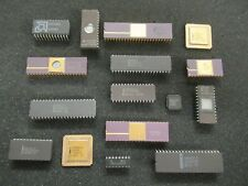 Rare Vintage IC'c Electronic components Gold EPROM Job Lot Collectable 15 Chips
