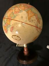 Replogle World Classic Series Globe Raised Relief Map Wood Base