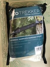B58 New Eco Trekker Travel Hammock Hanging System 10 ft Straps Carabiners 450Lbs