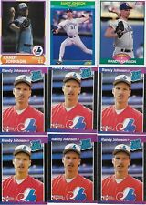 Randy Johnson Rookie Card Lot 1989 Upper Deck Donruss Score