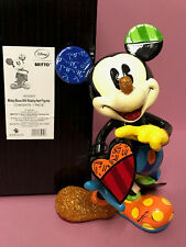 """Disney Romero Britto 2016 Mickey Mouse with Rotating Heart 8"""" Figurine 4052551"""