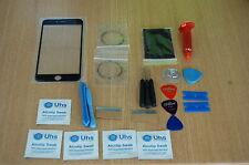 iPhone 6 Plus Negro Kit De Reparación Vidrio, Pantalla Frontal, Antorcha UV