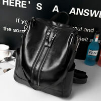 Casual Women Black Leather Backpack Travel Satchel Laptop Rucksack School Bag