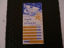 COUNCIL OF EUROPE 1958? LEAFLET TOPICAL BREXIT MEGA RARE COLLECTABLE *AS PICS*