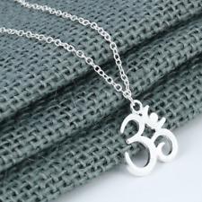 Om Necklace Aum Charm on Chain, Boho Bohemian Hippie Spiritual, Ohm